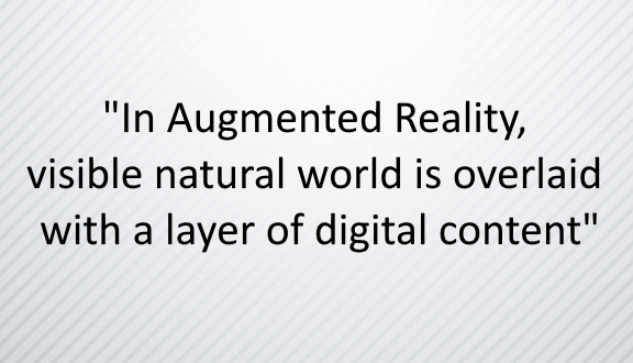 Augmented Reality for digitalisation